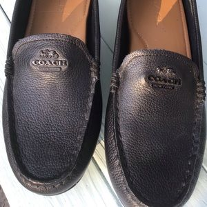 Coach🐎Signature Black Mary Lock Up Loafer EUC